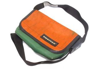 【FREITAG/フライターグ】 ヴィンテージ加工 メッセンジャーバッグ オレンジ×グリーン