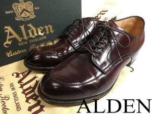美品!!【ALDEN/オールデン】 コードバン レザー Vチップ シューズ 靴 ■54321■7D■バーガンディ