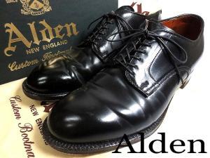 美品!!【ALDEN/オールデン】 プレーントゥ コードバン レザー モディファイドラスト シューズ 靴 ■53511■7D■黒