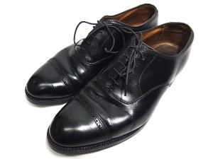 オールデン Alden 901 ストレートチップ シューズ Perforated Straight Tip Bal Calfskin キャップトゥ 8.5 黒 ブラック