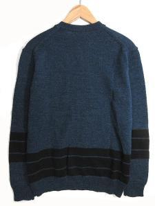 14aw ベドウィン BEDWIN ニット セーター VNECK JACQUARD SWEATER MACLISE ジャッガード Vネック プルオーバー 長袖 3 ネイビーの買取実績