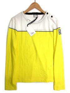 未使用品 モンクレール ガムブルー MONCLER GAMME BLUE Tシャツ カットソー COLLO A BARCHETTA バスクシャツ S イエロー