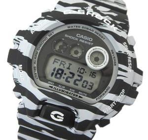 未使用品 ジーショック G-SHOCK GD-X6900BW-1JF ホワイト&ブラックシリーズ タイガーカモ 腕時計 ☆