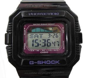 ジーショック G-SHOCK GLX-5500 腕時計 G-LIDE 黒 紫 ☆ 春夏秋冬