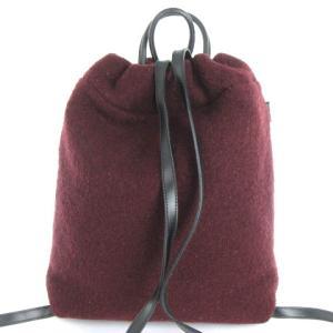 フルラ FURLA リュック サック デイパック 鞄 起毛 レザー ボルドー レディースの買取実績