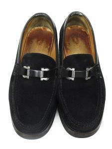 サルヴァトーレフェラガモ Salvatore Ferragamo ローファー ビット スエード ビジネスシューズ 黒 8 靴 メンズの買取実績