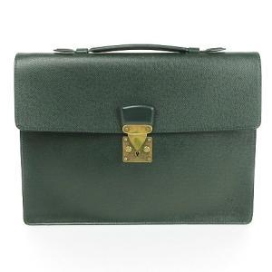 ルイヴィトン LOUIS VUITTON タイガ セルヴィエット クラド ブリーフケース ビジネスバッグ レザー M30074 緑 鞄 メンズ