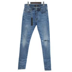 アミリ AMIRI Slit Knee Jean デニムパンツ ジーンズ スキニー ダメージ加工 ブルーの買取実績