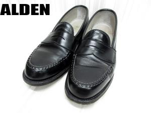 【ALDEN/オールデン】 981 レジャー ハドソーン カーフレザー コイン ローファー 靴 7D ブラック
