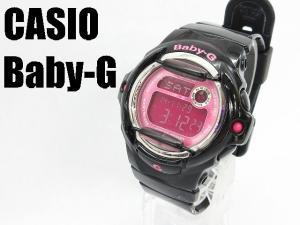 【Baby-G/ベビージー】 CASIO カラーディスプレイ 腕時計 クオーツ BG-169R 黒 ピンク