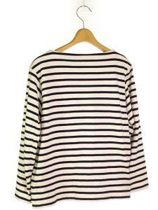 ヤエカ YAECA STOCK 14AW バスクシャツ カットソー 九分袖 ボーダー 白 紺 Sの買取実績