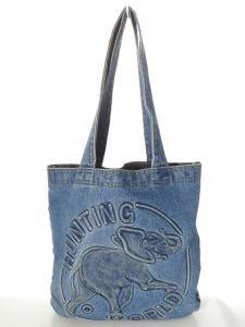 ハンティングワールド HUNTING WORLD トートバッグ デニム 青 インディゴ 160606