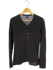 アルマーニ ジーンズ ARMANI JEANS Tシャツ カットソー 長袖 ヘンリーネック M 黒 国内正規 春夏 160910の買取実績