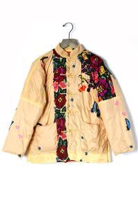 ◆BOHEMIANS(ボヘミアンズ):ガーデン柄 チャイナダウンジャケット/ベージュ系XSの買取実績