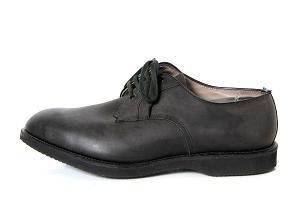 ●Alden(オールデン):#591 Plain Toe Blucher Nubuck Black/ヌバック プーントゥ・モディファイドラスト ドレスシューズ10D黒