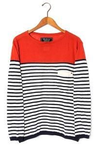 anachronorm アナクロノーム Border Boat Neck Sweater ボートネック ボーダーニット ホワイト レッド ネイビー 1 春夏秋/●