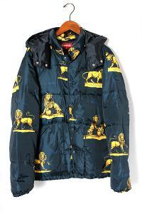 2013AW Supreme シュプリーム Lions Puffy Jacket ダウン ジャケット L navy/●