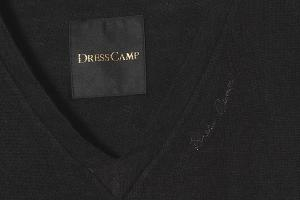 DRESSCAMP ドレスキャンプ 3403-520940 日本製 装飾付き Vネックニット デザインニット セーター ブラック 44 秋冬春/◆ メンズの買取実績