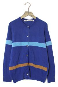 COMME des GARCONS コムデギャルソン vintage ウール ボーダー カーディガン GN050130 青 ヴィンテージ /◆☆ レディースの買取実績