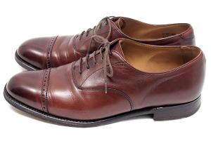 ロイド フットウェア Lloyd Footwear オックスフォード ストレートチップ レザー シューズ 茶 8.5の買取実績