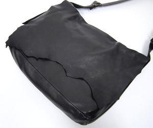 レン REN 柔らかレザー フラップ ショルダー バッグ黒の買取実績