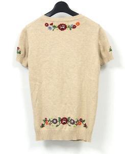ビームスボーイ BEAMS BOY 花 刺繍 半袖 カーディガンの買取実績