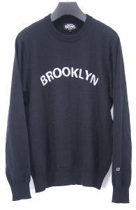 ビームス BEAMS BROOKLYN ジャガード ニット セーター 黒 L メンズの買取実績
