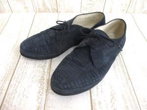 バリー BALLY シューズ レザー 靴 紺 7 1/2 0515