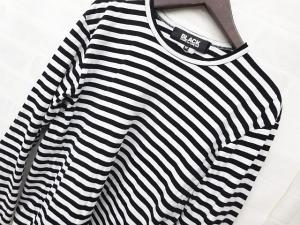 【BLACK COMME des GARCONS/ブラックコムデギャルソン】 Tシャツ カットソー ボーダー 長袖 黒 白 2008 Mの買取実績