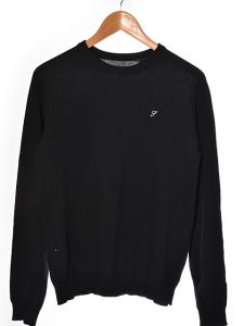 シュプリーム SUPREME ニット セーター ハイゲージ 刺繍 長袖 ハイゲージ 濃紺系 S 160227