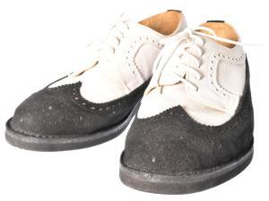 アダムキメル ADAM KIMMEL ビジネスシューズ ウイングチップ 切替 スエード ローカット ブーツ グレー 黒 42 秋冬 160331の買取実績
