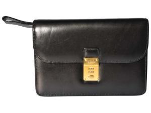 バリー BALLY セカンドバッグ クラッチ ビジネス 黒 160911
