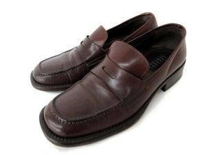 バーニーズニューヨーク BARNEY'S NEWYORK コインローファー シューズ 靴 レザー 40 1/2 003-BB