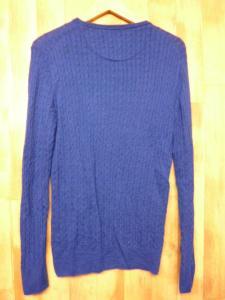 ブラックレーベル クレストブリッジ BLACK LABEL CRESTBRIDGE エンブレム刺繍長袖ケーブルニットカットソーサイズ2青紺/n69の買取実績