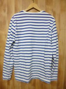 ブラックレーベル クレストブリッジ BLACK LABEL CRESTBRIDGE ボーダー柄長袖Tシャツカットソー サイズ2白×青/d65の買取実績