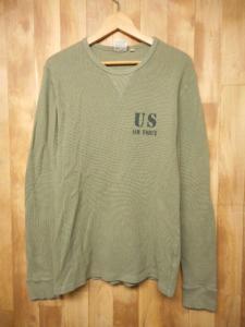 アヴィレックス AVIREX 長袖 Tシャツ カットソー プリント L 緑 黒 メンズ /1 メンズ
