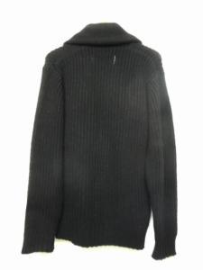 エーケーエム AKM ショルカラー カーディガン ニット セーター 長袖 編み込み 黒 ブラック L/M148 メンズの買取実績