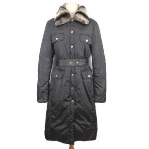 アンナモリナーリ ANNA MOLINARI ダウン コート ロング ナイロン ジャケット ファーカラー I44 グレーの買取実績