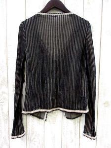 【ANNA MOLINARI/アンナモリナーリ】 刺繍 ビーズ カーディガン 36/ベージュ×ブラック ■J23の買取実績