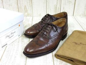 美品 【Lloyd Footwear/ロイドフットウェア】 DOWNING ウイングチップ シューズ 6E ダークブラウンの買取実績