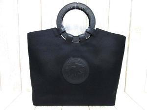ハンティングワールド HUNTING WORLD キャンバス レザー トートバッグ 黒 βV62