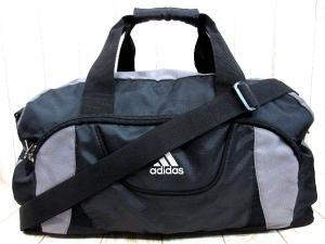 アディダス adidas ボストンバッグ 2WAY ロゴ 鞄 黒 ブラック グレー ユニセックス