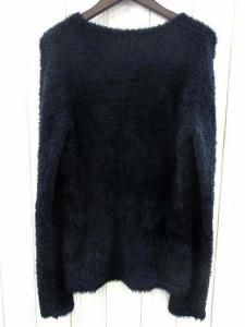5351プールオム 5351 POUR LES HOMMES ニット シャギー セーター 長袖 Vネック 無地 ブラック 黒 2 秋冬 メンズの買取実績