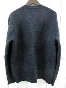 アーペーセー A.P.C. ニット セーター Vネック ウール 長袖 チャコール グレー M フランス製 秋冬 メンズの買取実績