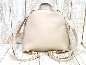 サマンサベガ Samantha Vega リュック 2WAY ハンドバッグ フェイクレザー 鞄 ベージュ レディースの買取実績