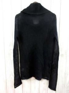 5351プールオム 5351 POUR LES HOMMES ニット セーター オフタートル 長袖 モヘヤ 無地 ブラック 黒 2 メンズの買取実績