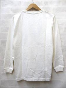 未使用品 ドゥニーム DENIME Tシャツ 長袖 ロンT プリント 丸首 袖リブ 白系 S ○g99の買取実績