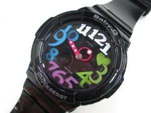 美品【Baby-G/ベビージー】 BGA-131-1B2 ネオンダイアルシリーズ/アナログ腕時計 ブラック ※TS