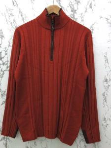 アレグリ allegri ニットセーター ハイネック ジップ付 長袖 50 オレンジ系 ※MR