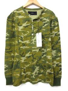 未使用品 エーケーエム AKM T178 ORIGINAL MINI WAFFLE L/S henry CAMO Tシャツ カットソー カモフラ 迷彩 M 緑 ※TS